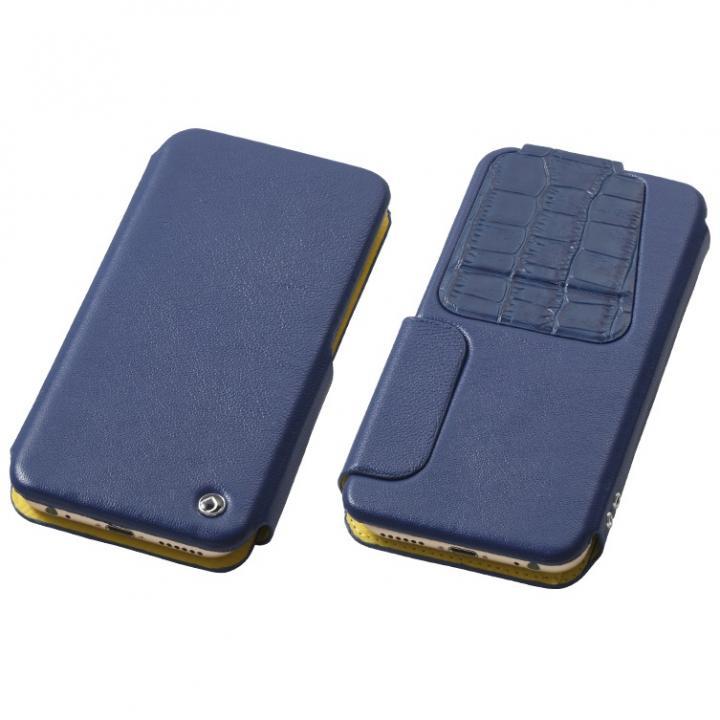 iPhone6s/6 ケース マルチ対応 天然レザー手帳型ケース 4.7 ミッドナイトブルー 多機種(iPhone/Andoroid)対応_0