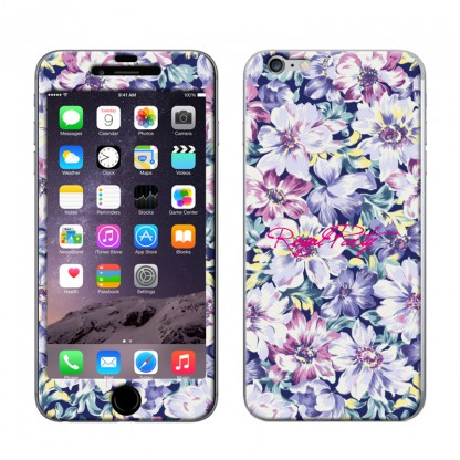 【iPhone6ケース】Gizmobies スキンシール Spring Flower purple iPhone 6スキンシール_0