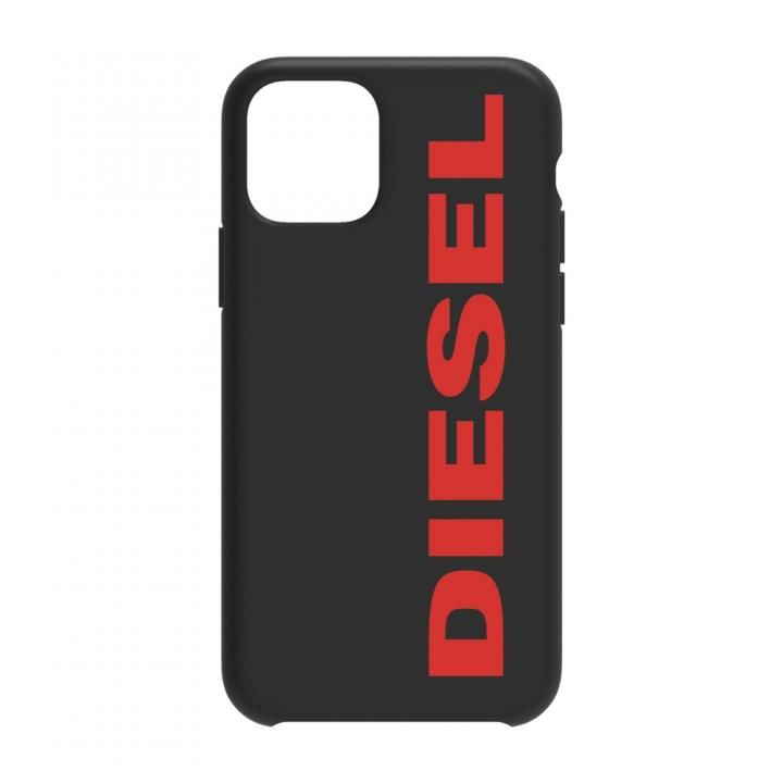 iPhone 11 Pro Max ケース Diesel - Printed Co-Mold Case Soft Touch Black/Red Vertical Logo iPhone 11 Pro Max_0