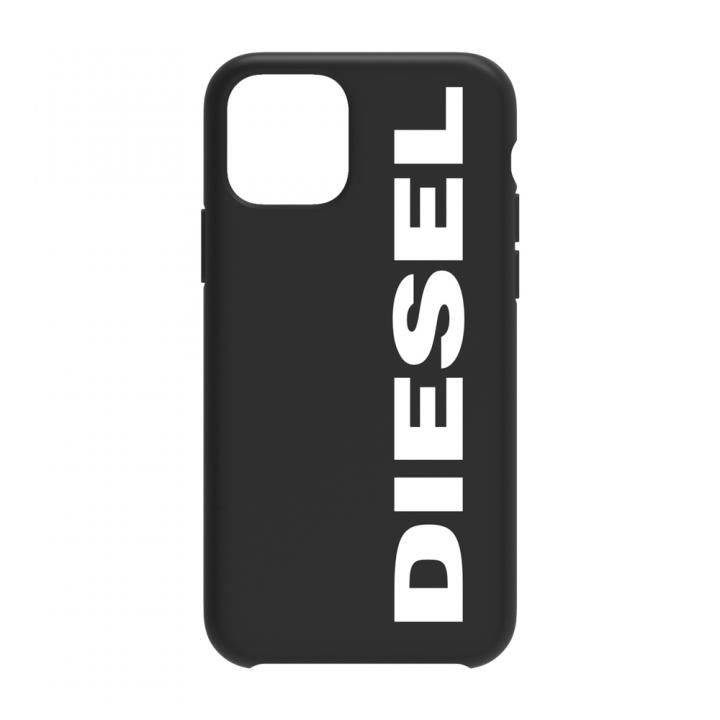 iPhone 11 ケース Diesel - Printed Co-Mold Case Soft Touch Black/White Vertical Logo iPhone 11_0