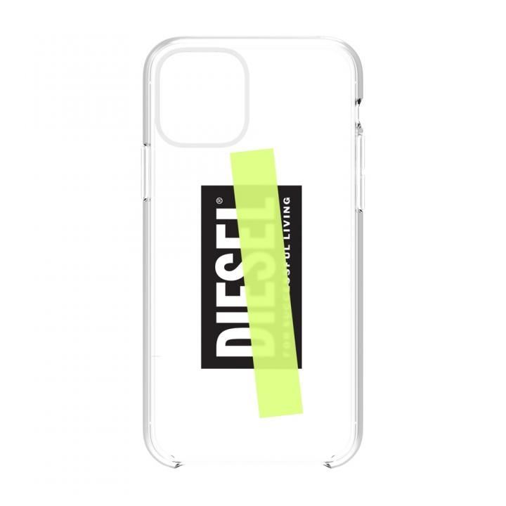 iPhone 11 Pro Max ケース Diesel - Printed Co-Mold Case Clear/Black/Yellow Tape iPhone 11 Pro Max_0