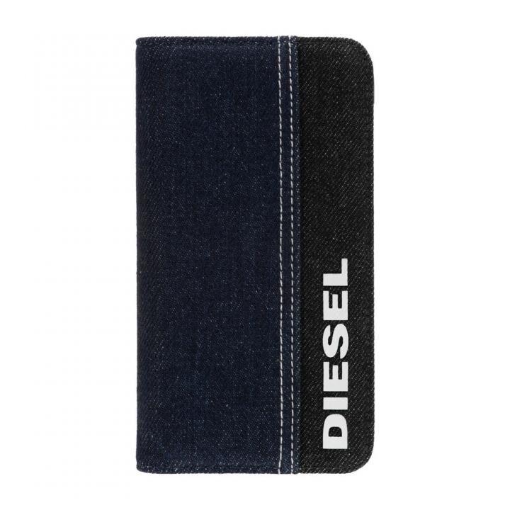 iPhone 11 ケース Diesel - 2-in-1 Folio Case Black Denim/Blue Denim/White Vertical Logo iPhone 11_0