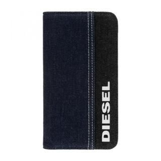 iPhone 11 ケース Diesel - 2-in-1 Folio Case Black Denim/Blue Denim/White Vertical Logo iPhone 11