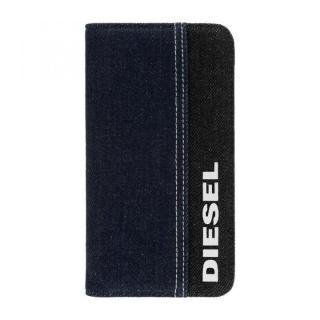 iPhone 11 ケース Diesel - 2-in-1 Folio Case Black Denim/Blue Denim/White Vertical Logo iPhone 11