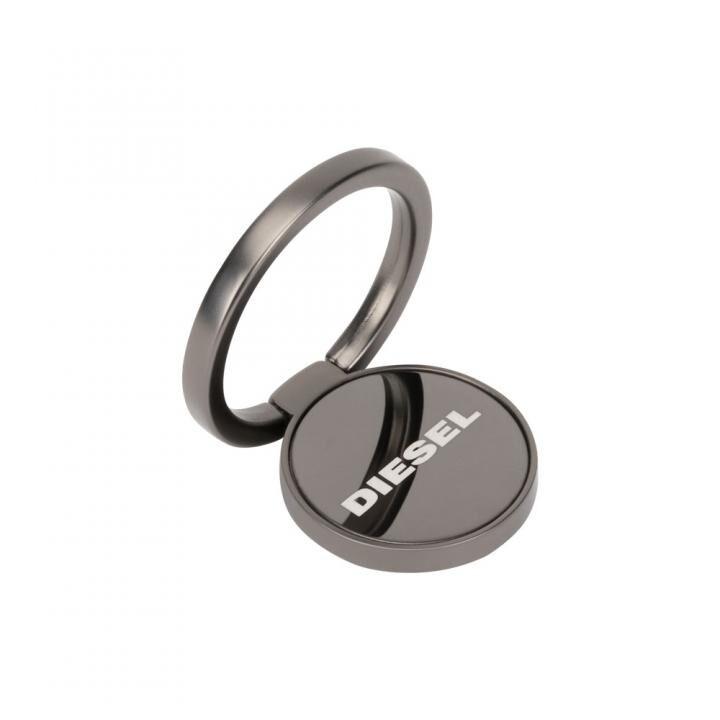 Diesel Universal Ring Stand 落下防止リング Gunmetal Matte PVD/Etched Diesel Logo_0