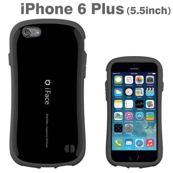 なめらかな曲線が手にフィット iface First Class ブラック iPhone 6 Plusケース