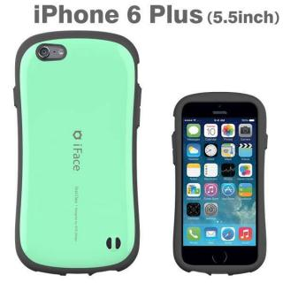 【10月下旬】なめらかな曲線が手にフィット iface First Class ミント iPhone 6 Plusケース