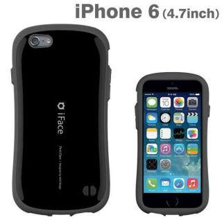 なめらかな曲線が手にフィット iface First Class ブラック iPhone 6ケース