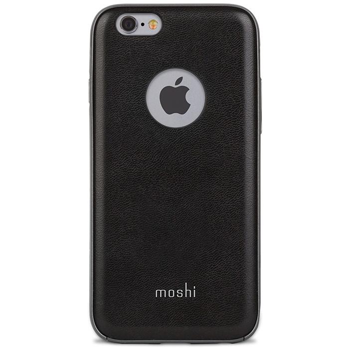 【iPhone6s/6ケース】moshi iGlaze Napa ヴィーガンレザー ブラック iPhone 6s/6_0