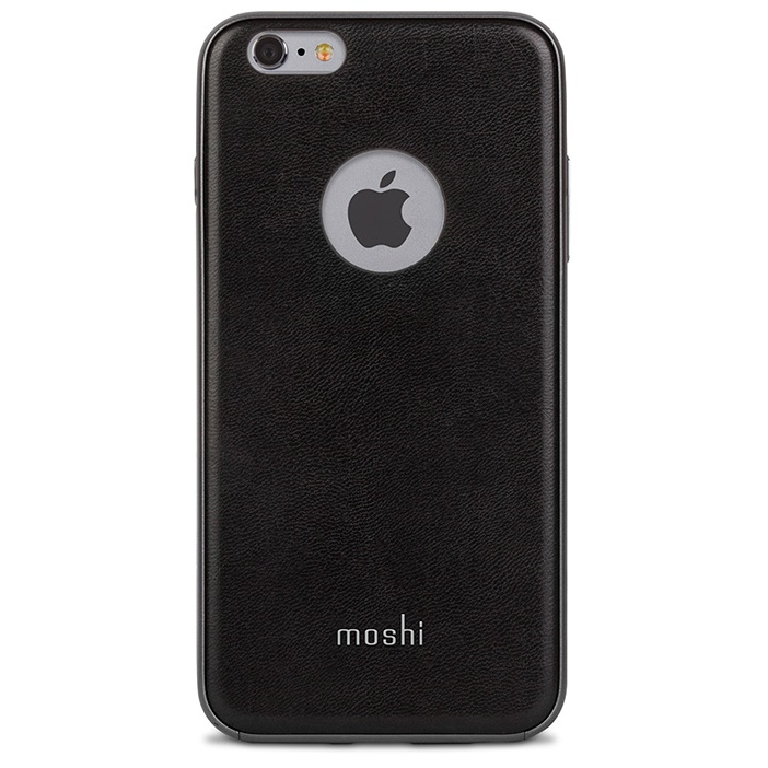 moshi iGlaze Napa ヴィーガンレザーケース ブラック iPhone 6s Plus/6 Plus