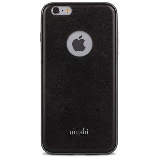 [強靭発売記念特価]moshi iGlaze Napa ヴィーガンレザーケース ブラック iPhone 6s Plus/6 Plus