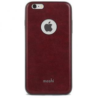 moshi iGlaze Napa ヴィーガンレザーケース レッド iPhone 6s Plus/6 Plus