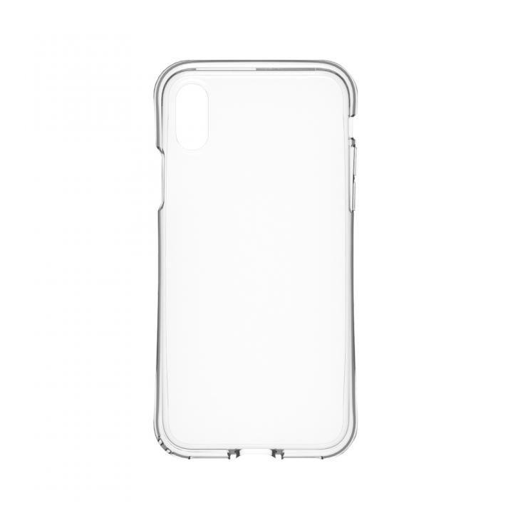 simplism 衝撃吸収フルカバーTPUケース Aegis Grip クリア iPhone X