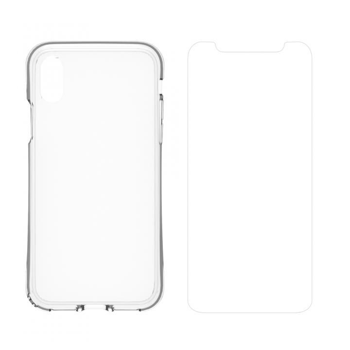 simplism 衝撃吸収ハイブリッドケース&ガラスセット Turtle Grip Plus  iPhone X