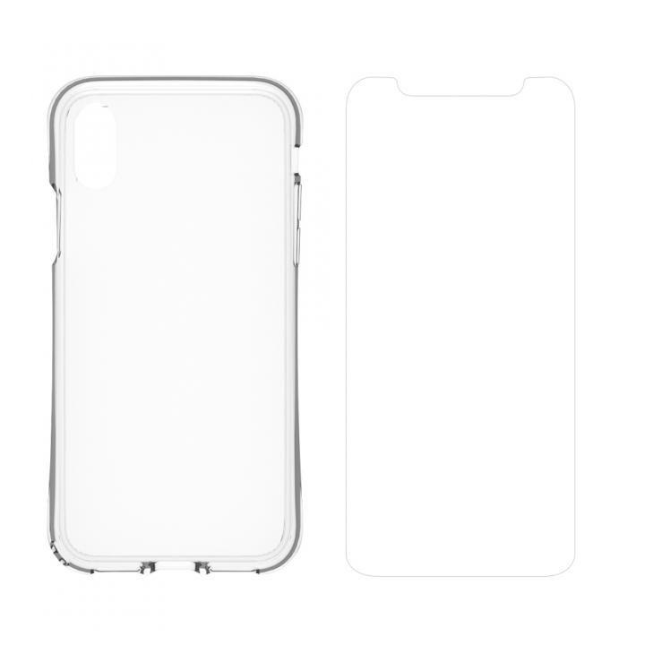 【iPhone Xケース】simplism 衝撃吸収ハイブリッドケース&ガラスセット Turtle Grip Plus  iPhone X_0