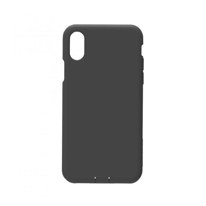 simplism 衝撃吸収シリコンケース Cushion ブラック iPhone X