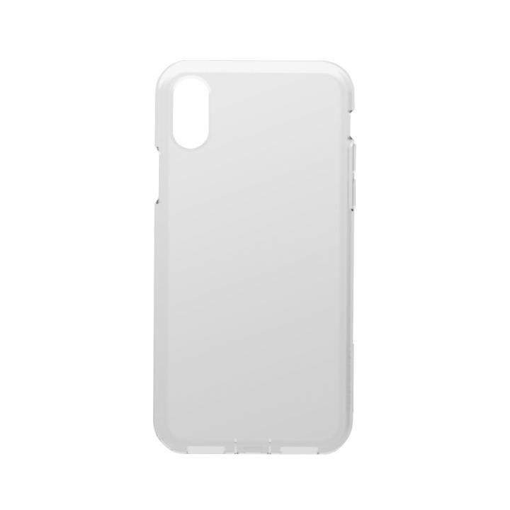 simplism 衝撃吸収シリコンケース Cushion クリアホワイト iPhone X