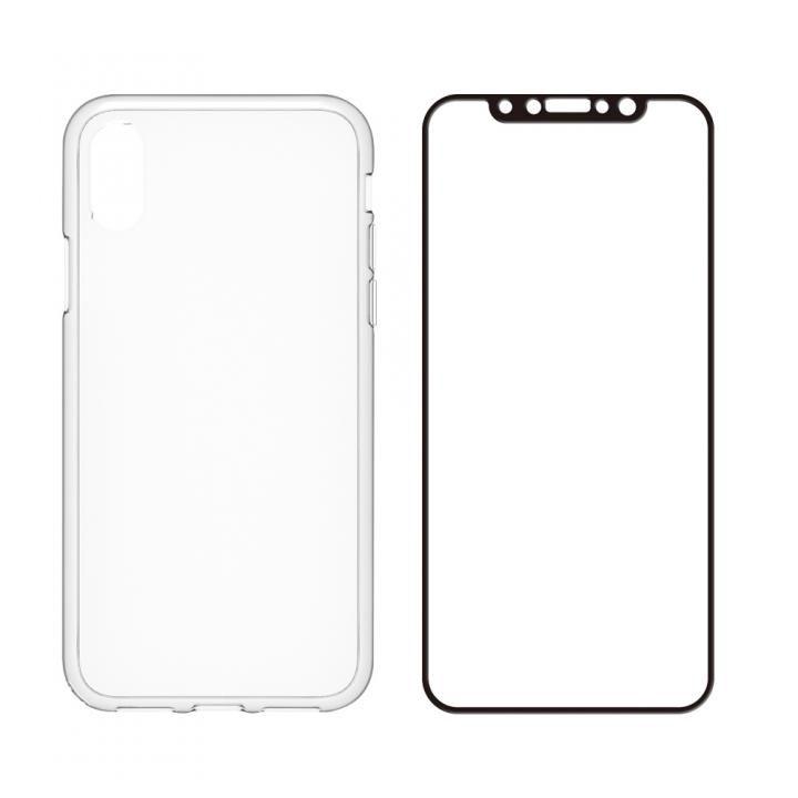 simplism ハイブリッドケース&ガラスセット Turtle Pro ブラックフレーム iPhone X