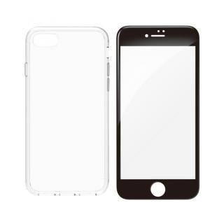 simplism ハイブリッドケース&ガラスセット Turtle Pro ブラックフレーム iPhone 8 Plus