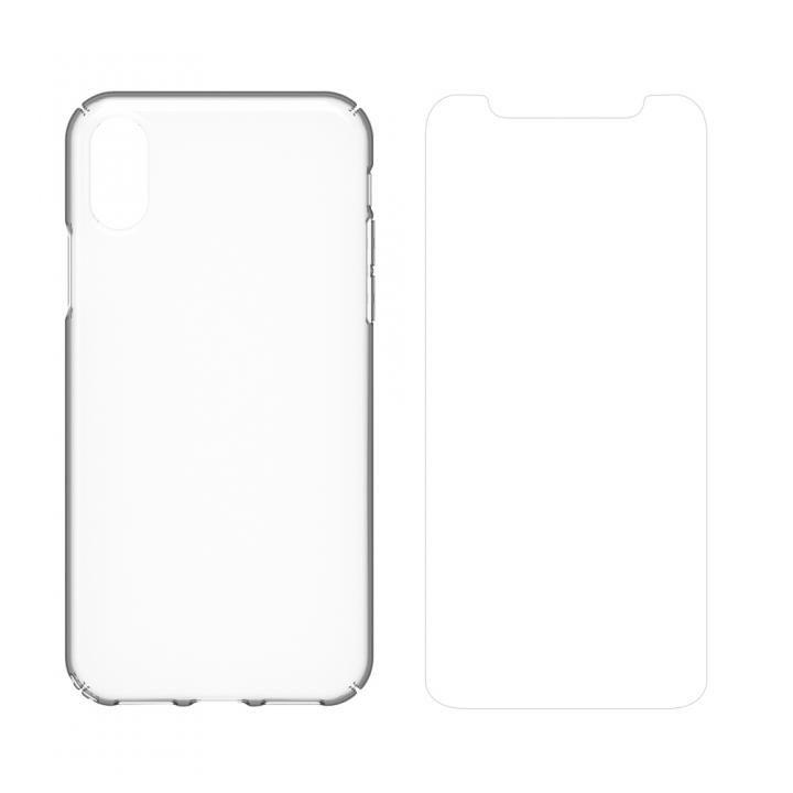 【iPhone Xケース】simplism キズ修復防指紋ケース&フィルムセット Airly Repair Plus クリア iPhone X_0