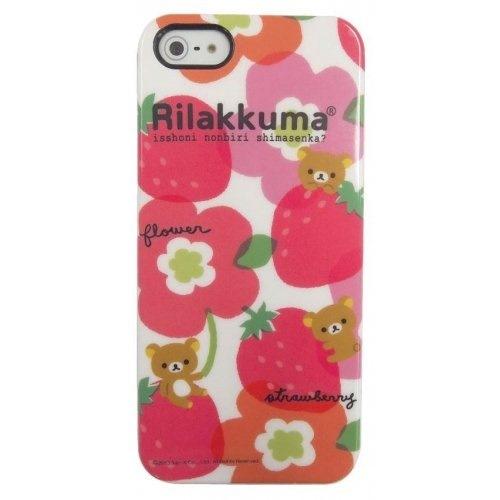 iPhone SE/5s/5 ケース リラックマ iPhone5専用 ジャケット&フィルムセット ピンク_0