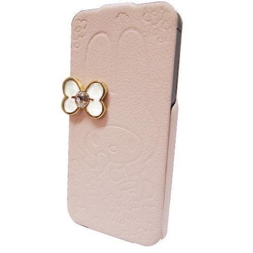 マイメロディ iPhone5専用 レザーフィール手帳型ケース ピンク