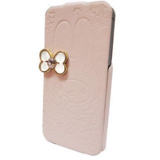 【iPhone SE/5s/5ケース】マイメロディ iPhone5専用 レザーフィール手帳型ケース ピンク