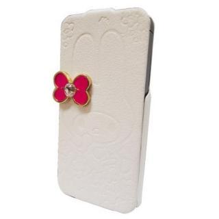 【iPhone SE/5s/5ケース】マイメロディ iPhone5専用 レザーフィール手帳型ケース ホワイト