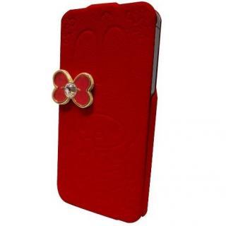 【iPhone SE/5s/5ケース】マイメロディ iPhone5専用 レザーフィール手帳型ケース レッド