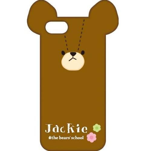 iPhone SE/5s/5 ケース くまのがっこう iPhone5専用 ダイカットシリコンジャケット ジャッキー_0