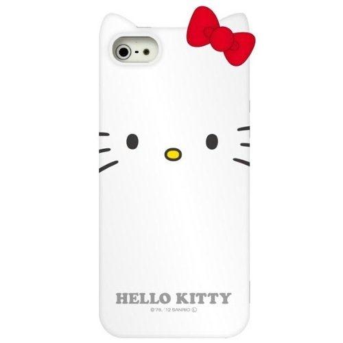 【iPhone SE/5s/5ケース】ハローキティ iPhone5専用 ダイカットソフトジャケット ホワイト_0