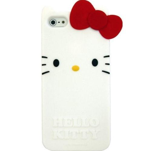 iPhone SE/5s/5 ケース ハローキティ iPhone5専用 ダイカットシリコンジャケット Aタイプ_0