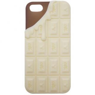 モビモア iPhone5専用 チョコレートシリコンケース ホワイトチョコレート