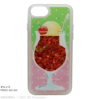 [2018新生活応援特価]EYLE Glitter Case クリームソーダ オレンジ iPhone 8/7/6s/6