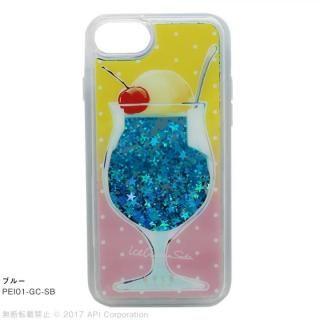 [2018新生活応援特価]EYLE Glitter Case クリームソーダ ブルー iPhone 8/7/6s/6
