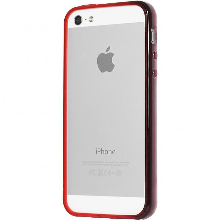 グラデーションが美しい 染 iPhone SE/5s/5 バンパー BUMPER 紅
