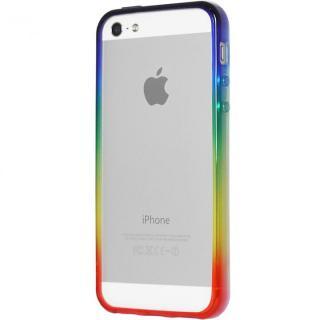 グラデーションが美しい 染 iPhone SE/5s/5 バンパー BUMPER 虹
