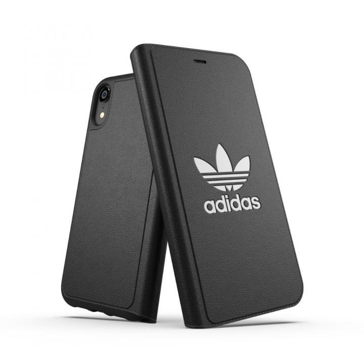 iPhone XR ケース adidas OR TPU Booklet Case BASIC ブラック/ホワイト iPhone XR_0