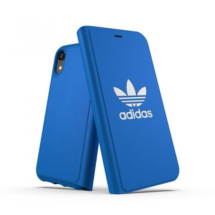【iPhone XRケース】adidas OR TPU Booklet Case BASIC ブルーバード/ホワイト iPhone XR_0
