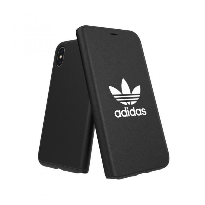iPhone XS/X ケース adidas OR TPU Booklet Case BASIC ブラック/ホワイト iPhone XS/X_0
