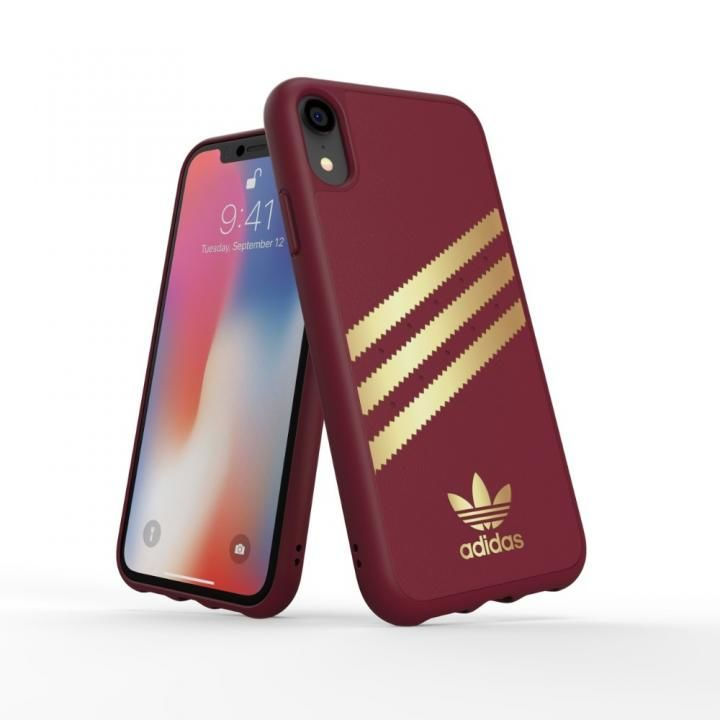 iPhone XR ケース adidas OR Moulded Case SAMBA バーガンディ/ゴールド iPhone XR_0