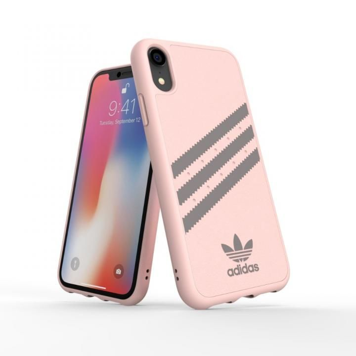 iPhone XR ケース adidas OR Moulded Case SAMBA ピンク/グレイ iPhone XR【7月上旬】_0