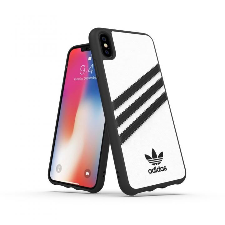 iPhone XS Max ケース adidas OR Moulded Case SAMBA ホワイト/ブラック iPhone XS Max_0