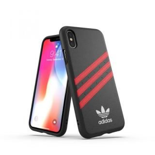 【iPhone XS/Xケース】adidas OR Moulded Case SAMBA ブラック/レッド iPhone XS/X