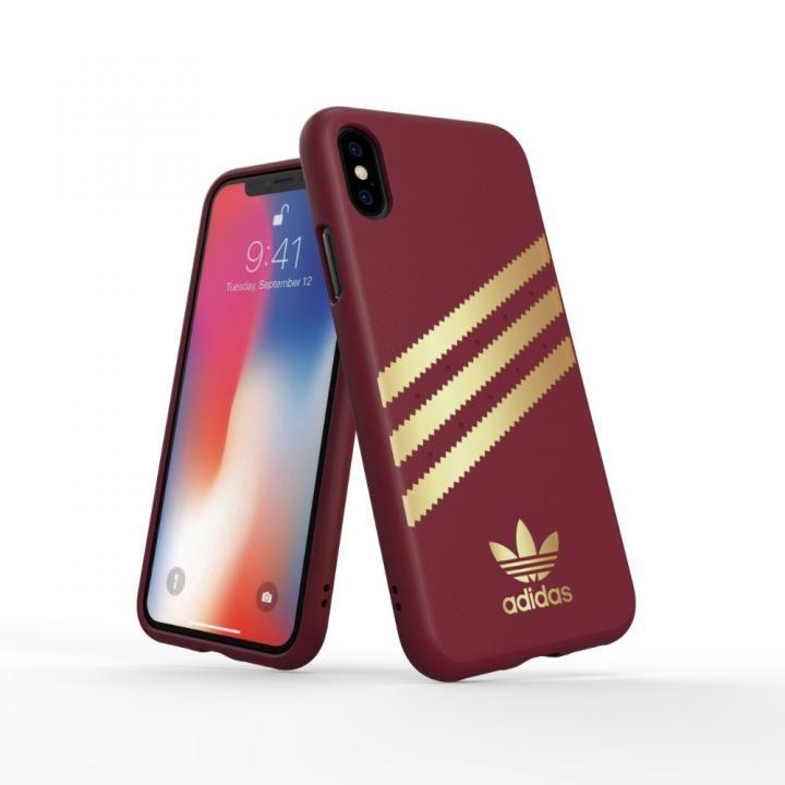 iPhone XS/X ケース adidas OR Moulded Case SAMBA バーガンディ/ゴールド iPhone XS/X_0