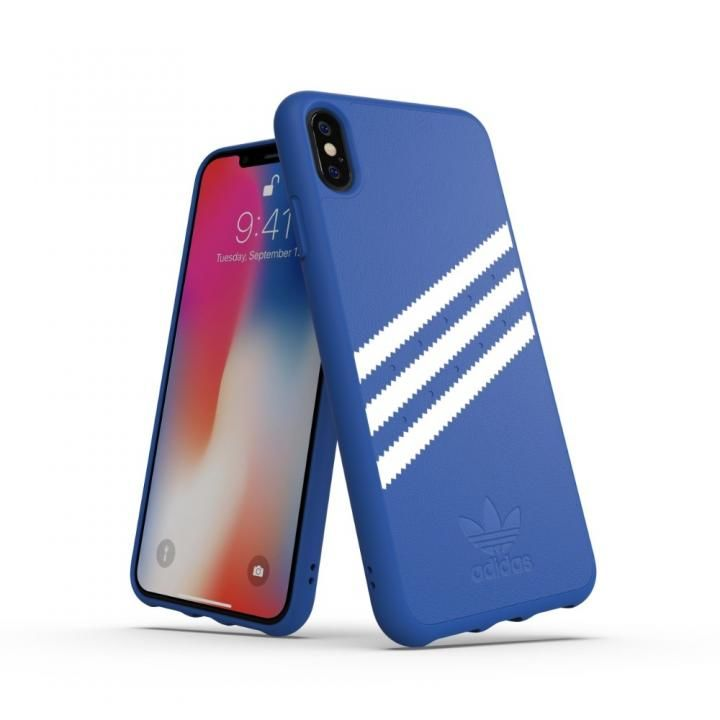 iPhone XS Max ケース adidas OR Moulded Case Collegiate ロイヤル/ホワイト iPhone XS Max_0