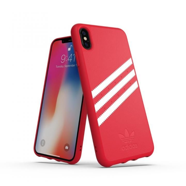 iPhone XS Max ケース adidas OR Moulded Case ロイヤルレッド/ホワイト iPhone XS Max_0