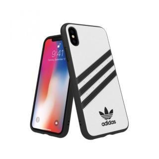 【iPhone XS/Xケース】adidas Originals Moulded Case SAMBA ホワイト/ブラック iPhone XS/X