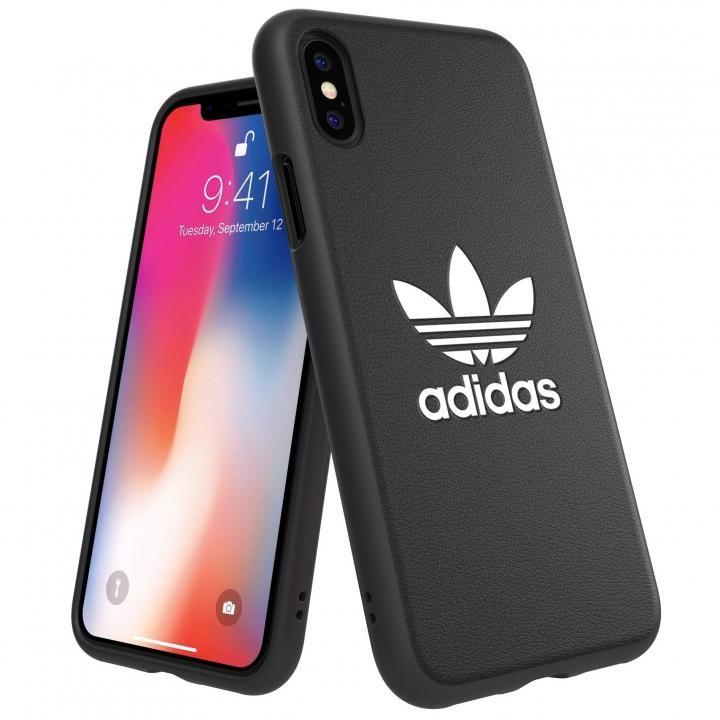 【iPhone XS/Xケース】adidas Originals TPU Moulded Case BASIC ブラック/ホワイト iPhone XS/X_0