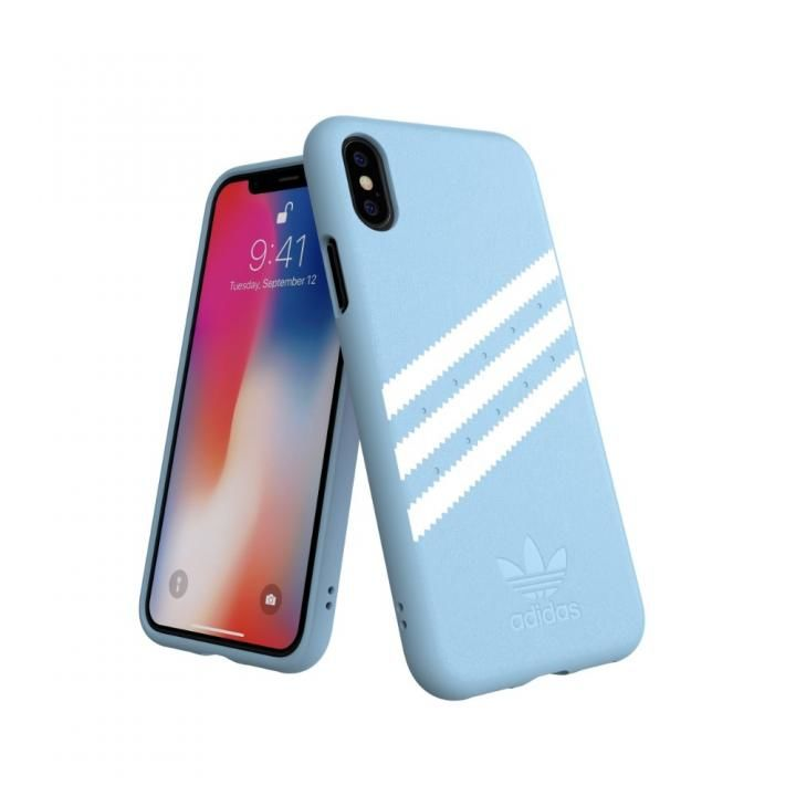 iPhone XS/X ケース adidas OR Moulded Case GAZELLE ブルー iPhone XS/X_0